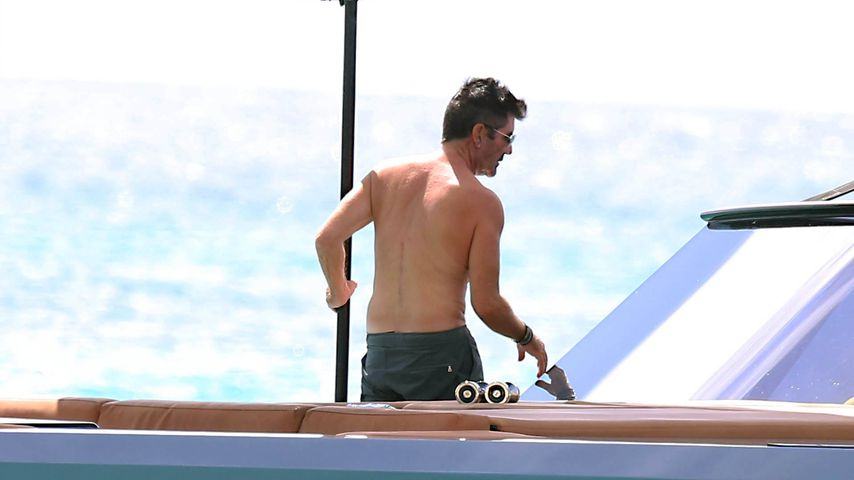 Simon Cowell im Dezember 2020 auf Barbados