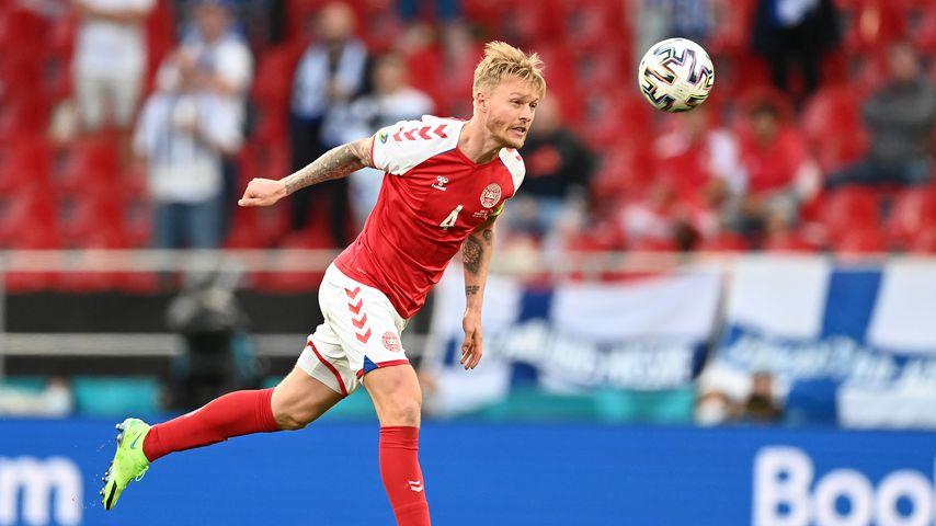 Simon Kjær beim EM-Spiel Dänemark gegen Finnland