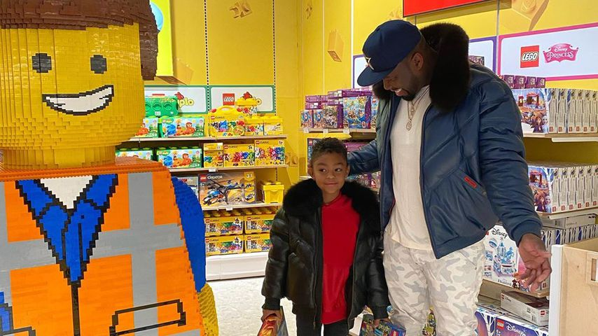 Sire mit Vater 50 Cent bei Toys 'R' Us