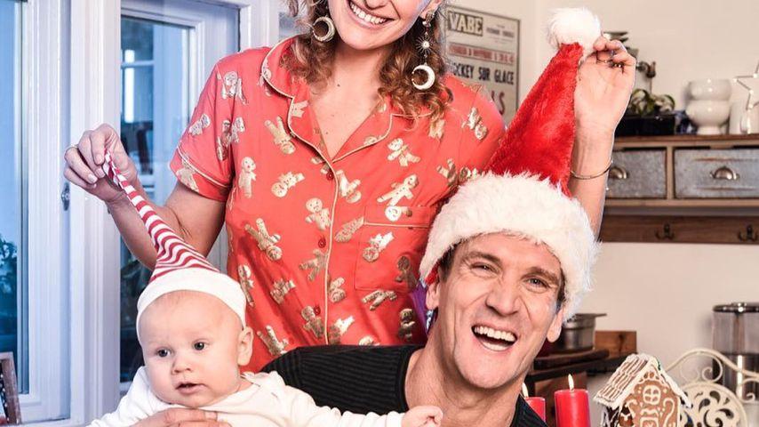 Emil-Ocean, Janni Hönscheid und Peer Kusmagk im Weihnachtslook