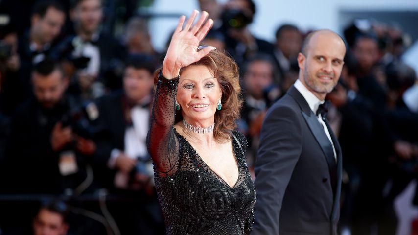 Sophia Loren mit ihrem Sohn Edoardo Ponti
