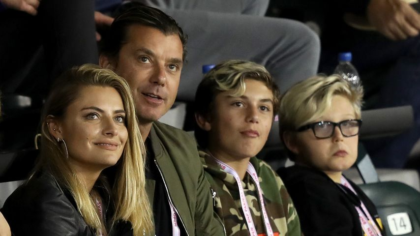 Sophia Thomalla, Gavin Rossdale und seine Kinder Kingston und Zuma