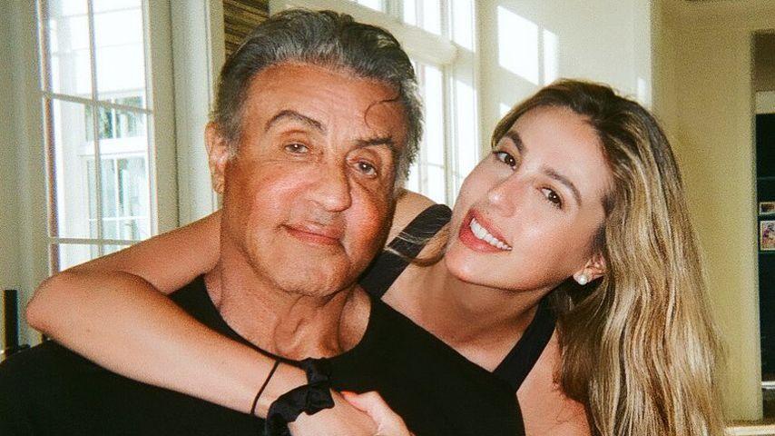 Sophia und Sylvester Stallone