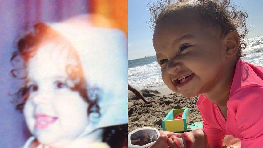 Kinderfotos von Sophia Vegas und ihrer Tochter Amanda