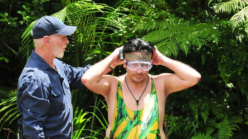 Matthias Mangiapane und Dr. Bob bei der Dschungelprüfung an Tag 3