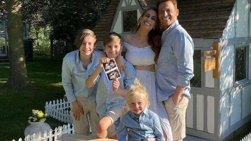 Stacey Solomon mit ihrer Familie