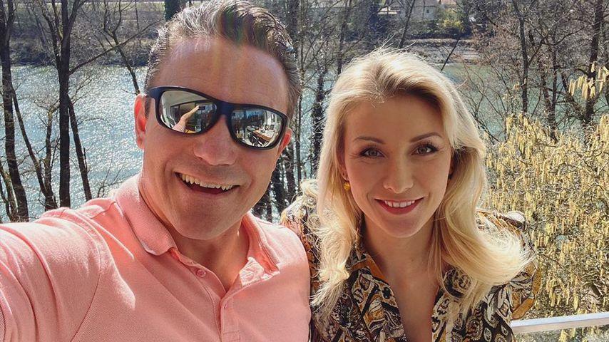 Stefan Mross und Anna-Carina Woitschack kündigen ihren Auftritt im SAT.1 Frühstücksfernsehen an