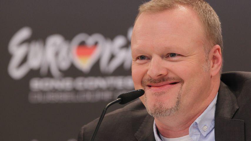 Stefan Raab bei einer Pressekonferenz für den Eurovision Song Contest 2011