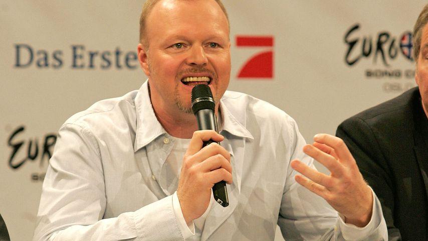 Stefan Raab bei einer Eurovision-Song-Contest-Pressekonferenz 2010