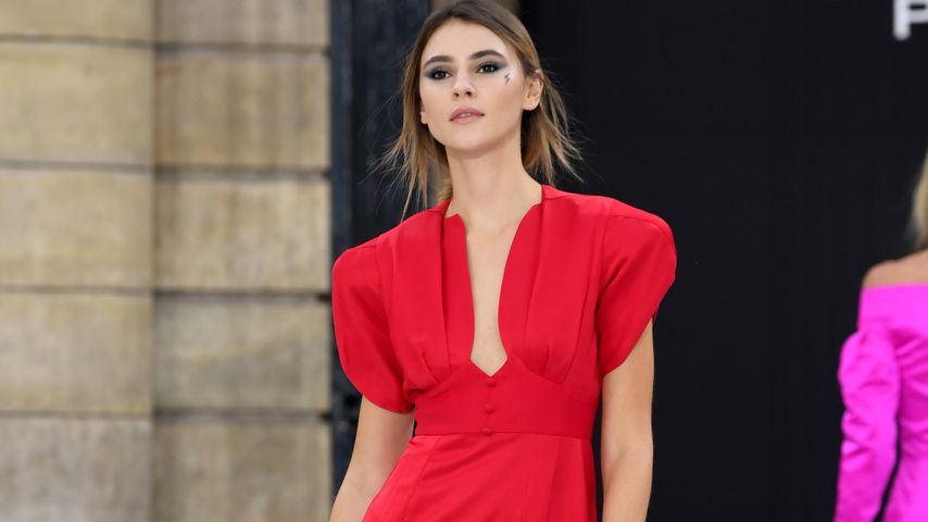 Stefanie Giesinger auf der Pariser Fashion Week, September 2019