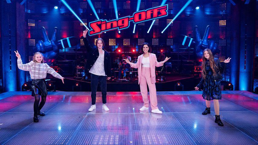 """Stefanie und ihre """"The Voice Kids""""-Finalisten"""