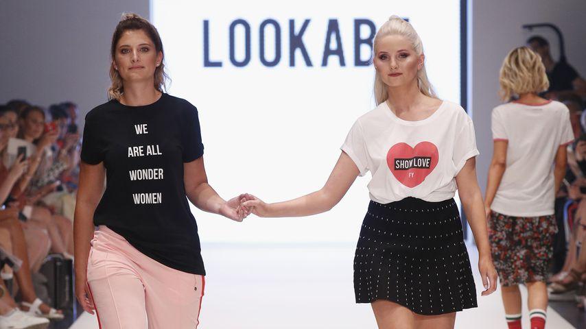 Stephanie Dall und Anna Hiltrop auf der Fashionyard Show in Düsseldorf