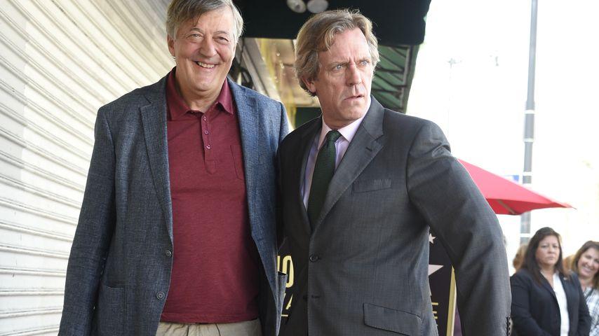 Stephen Fry und Hugh Laurie auf dem Walk of Fame