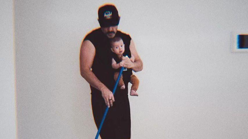 Steve Kazee und Sohn Callum im Juli 2020