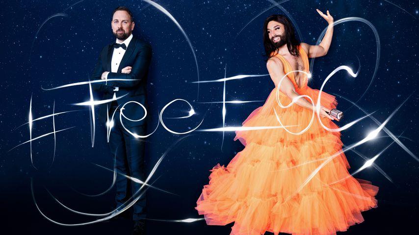 Steven Gätjen und Conchita Wurst für den #FreeESC