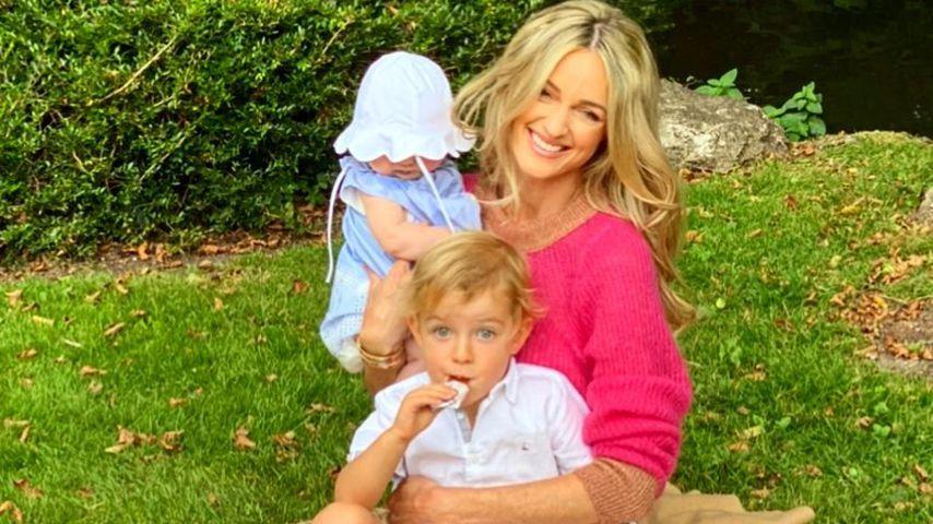 Storm Keating mit ihren Kindern Cooper und Coco