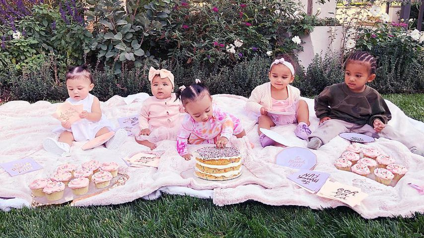 Stormi Webster, True Thompson, Chicago West, Dream Kardashian und Saint West