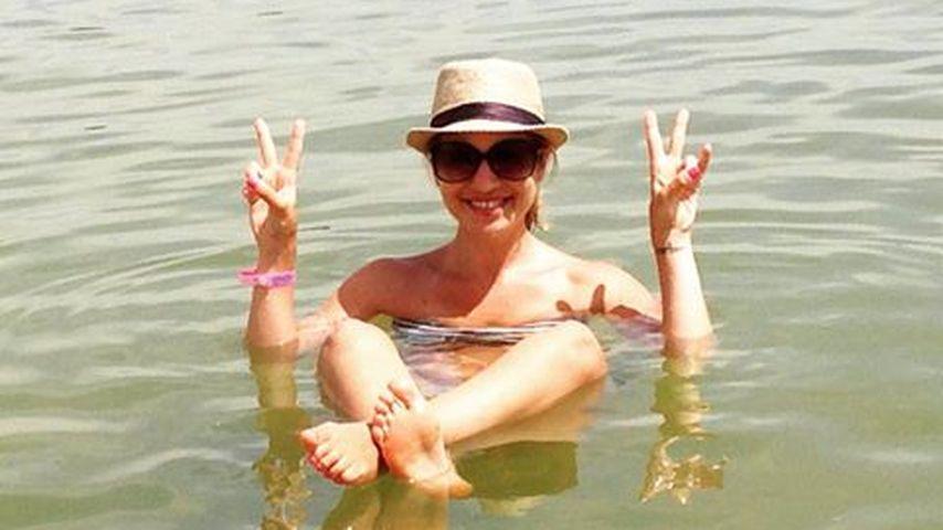 Richtig relaxt: Susan Sideropoulos lässt sich treiben