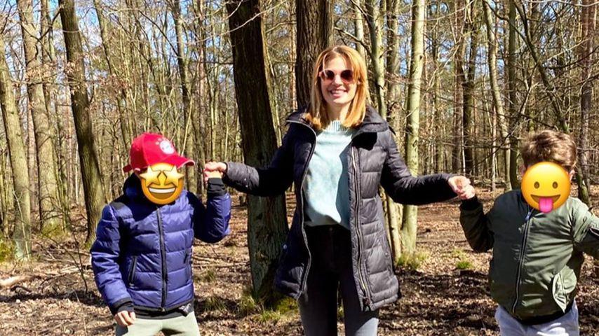 Susan Sideropoulus und ihre Kinder im Mai 2020