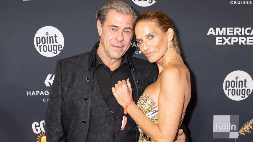 Sven Martinek mit Bianca Rütter bei der 20. Movie meets Media Party