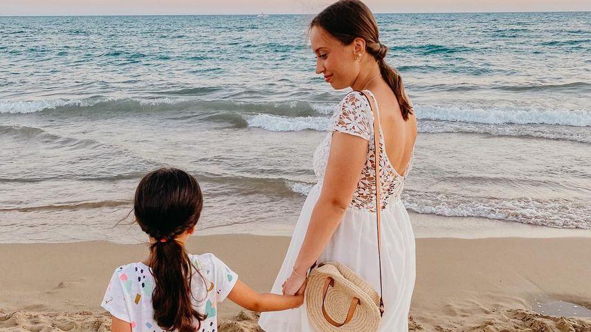 """Take Me Out""-Kandidatin Svenja mit ihrer Tochter Zoé"