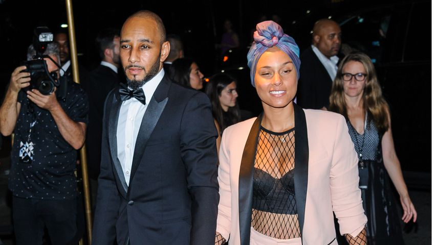 "Swizz Beatz und Alicia Keys bei der ""New York Fashion Week"" in New York"