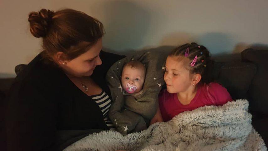 Sylvana Wollny mit ihren Töchtern Celina-Sophie (r.) und Anastasia