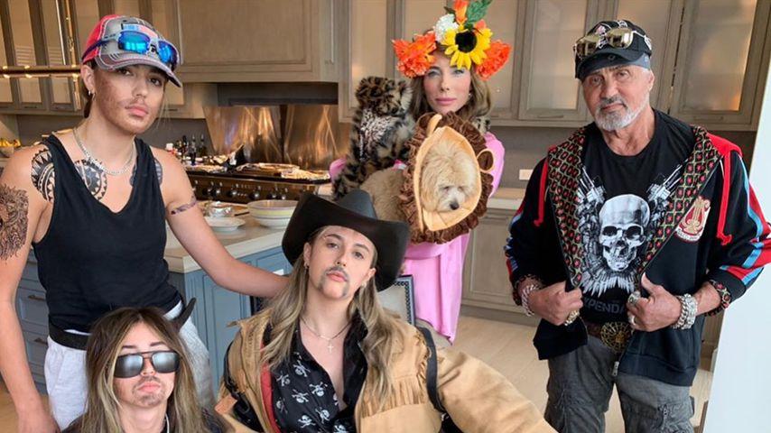 Sylvester Stallone und seine Familie im April 2020