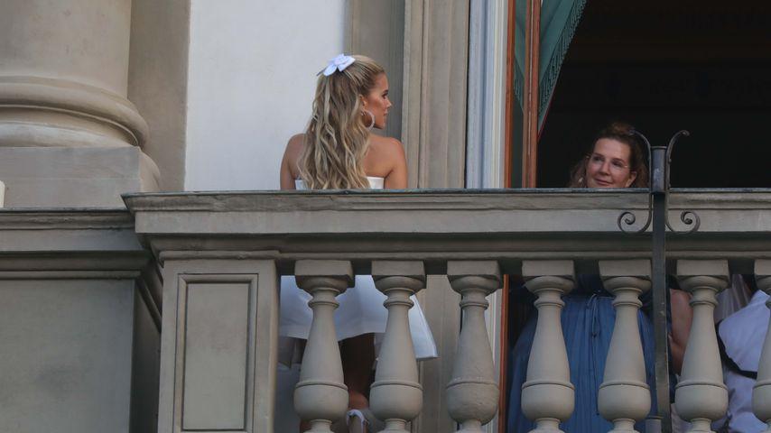 Sylvie Meis und Serena Goldenbaum während der Hochzeitsvorbereitungen