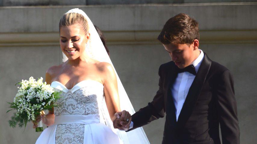 Sylvie Meis und Sohn Damian bei ihrer Hochzeit im September 2020
