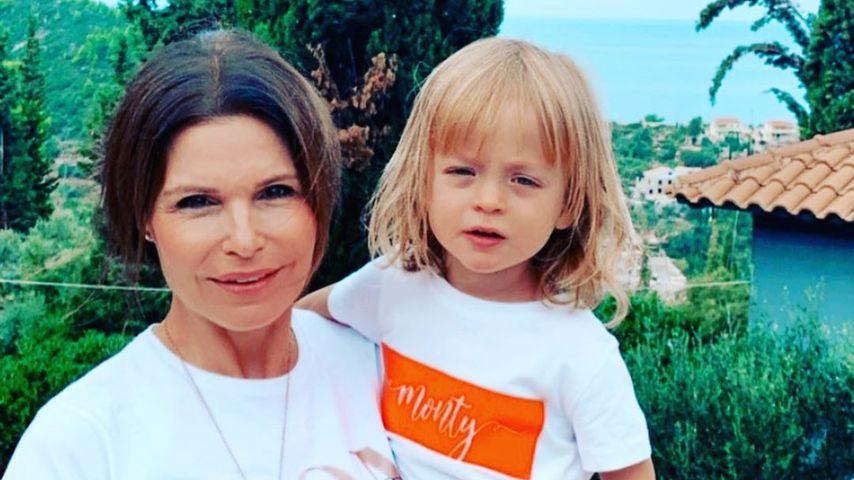 Tabea Heynig und Sohn Monty im Oktober 2020