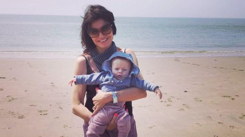 Tabea Heynig und ihr Sohn Monty im Mai 2018