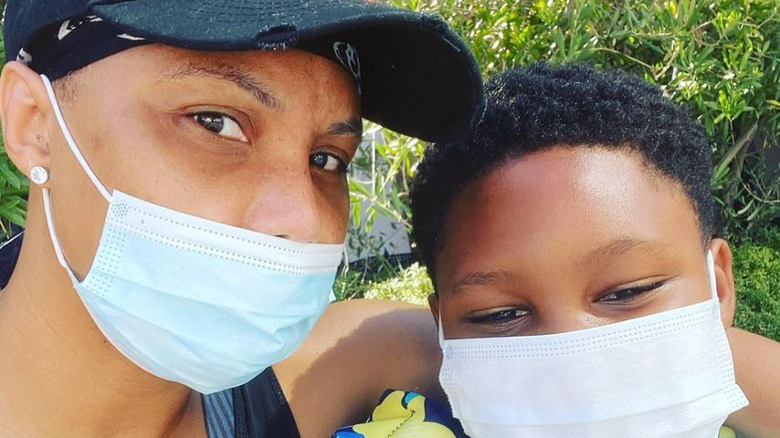 Tamar Braxton und ihr Sohn Logan auf Instagram, 2020