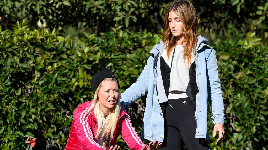 Tara Reid mit ihrer Trainierin Jenna Willis beim Fitness-Training