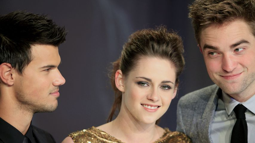 Taylor Lautner, Kristen Steward und Robert Pattinson in Berlin 2012