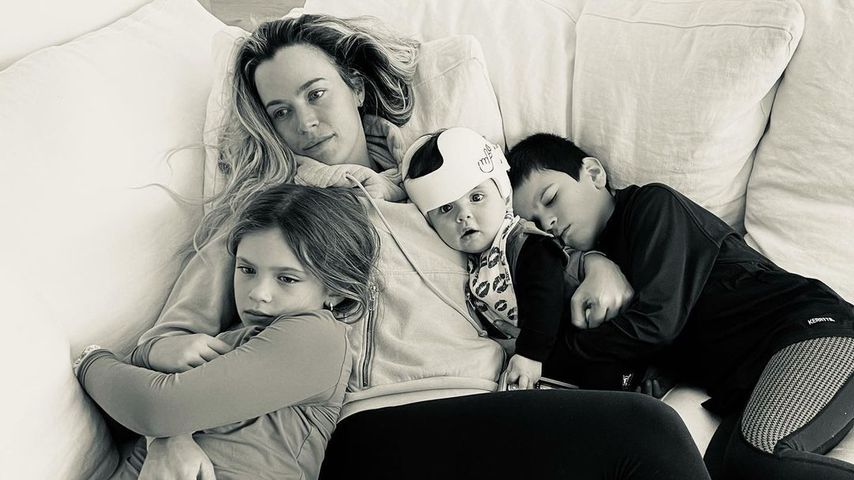 Teddi Mellencamp Arroyave mit ihren Kindern Slate, Dove und Cruz