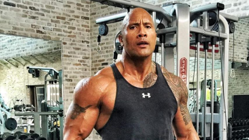 "Dwayne ""The Rock"" Johnson im Sportstudio"