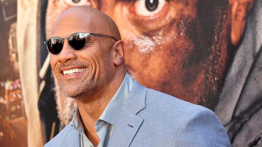 """""""The Rock"""" bei der Premiere von """"Skyscraper"""""""