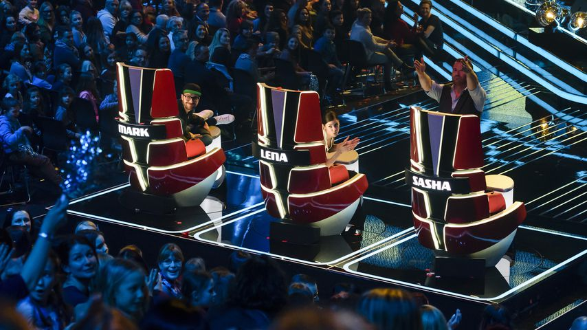 "Mark Forster, Lena Meyer-Landrut und Sasha bei ""The Voice Kids"""