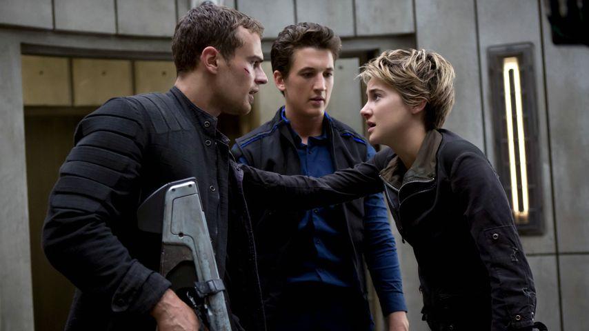 """Theo James, Miles Teller und Shailene Woodley in """"Insurgent"""""""