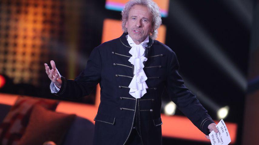 """Thomas Gottschalk bei der TV-Aufzeichnung seiner Sendung """"Gottschalks große 68er-Show"""""""