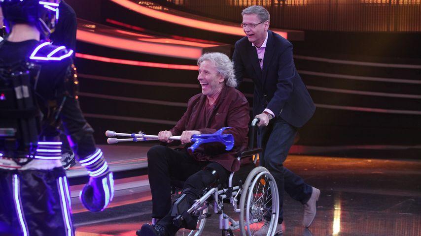 "Knallhart! Thomas Gottschalk meistert ""Die 2"" im Rollstuhl"