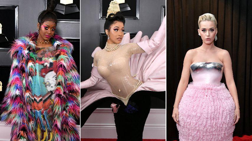 Muschelkleid & Regenbogen-Alarm: Die übelsten Grammy-Looks