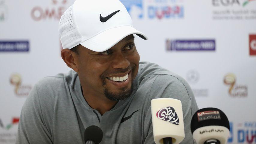 Tiger Woods bei einer Pressekonferenz