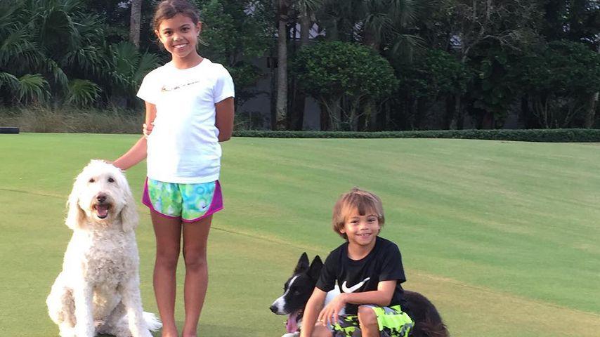 Tiger Woods Kinder Sam und Charlie, 2015