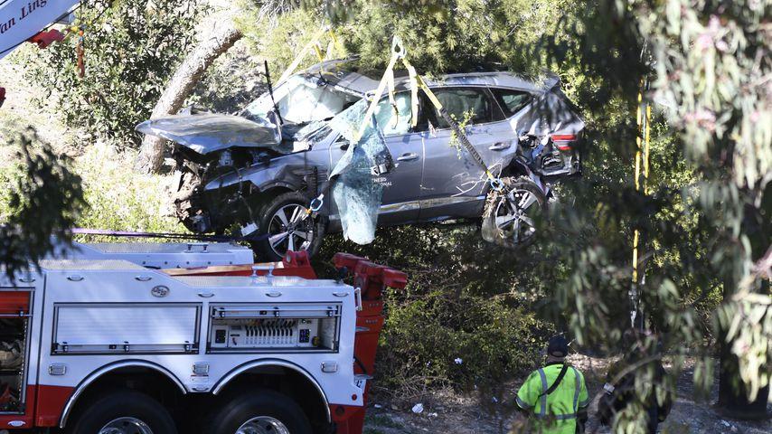 Tiger Woods' zerstörtes Auto