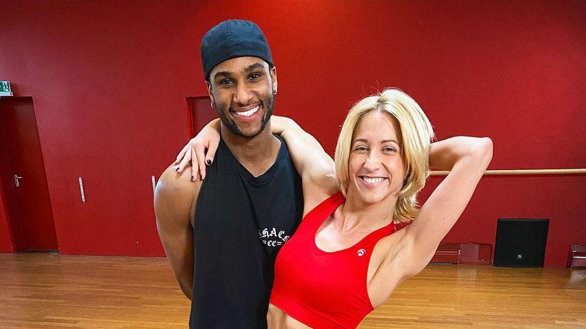 """Tijan Njie und Kathrin Menzinger beim """"Let's Dance""""-Training"""