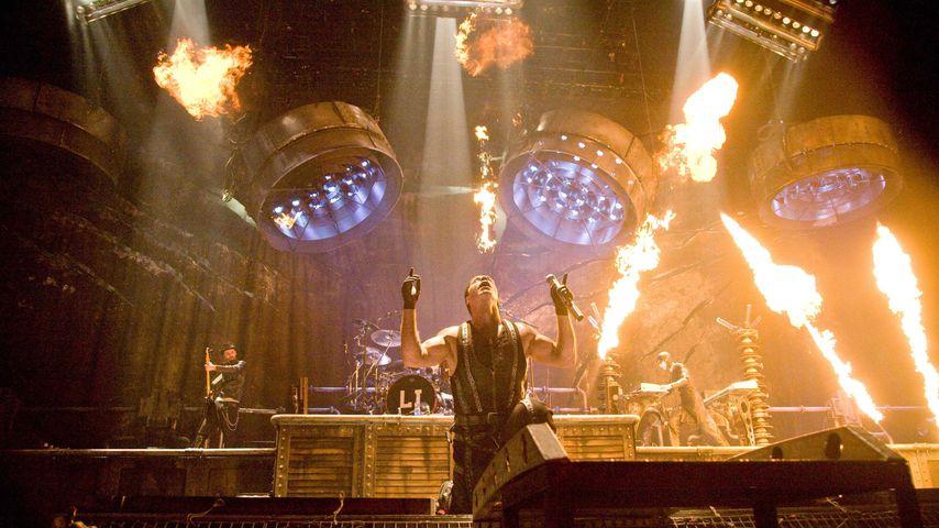 Till Lindemann mit Rammstein in Belgrad