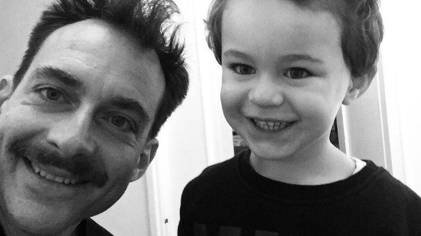 Tim Lobinger mit seinem Sohn Okkert