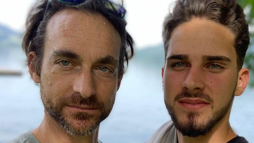 Tim Lobinger und sein Sohn Tyger